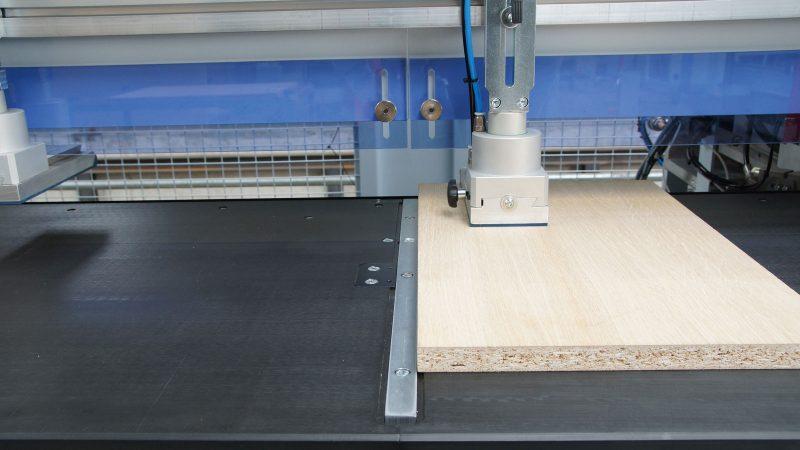 Tope central para una manipulación flexible de las piezas
