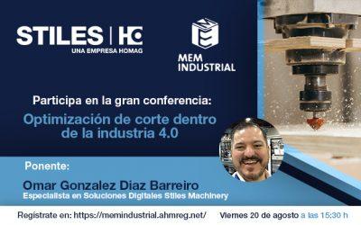 Especialista de Stiles Machinery impartirá conferencia dentro de MEM Industrial Tecno Mueble Internacional 2021
